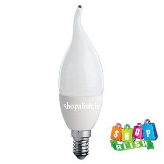 لامپ ال ای دی 6 وات اشکی مات تاج دار پایه E14