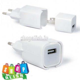 تبدیل دوشاخه آمریکایی برق شارژر آیفون اپل