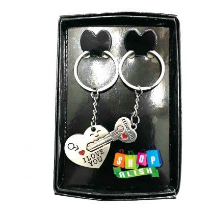 بسته جاکلیدی دو قلوی کلید و قلب
