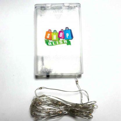 ریسه هفت رنگ ۳ متری سیم فلزی باتری خور کلیدار